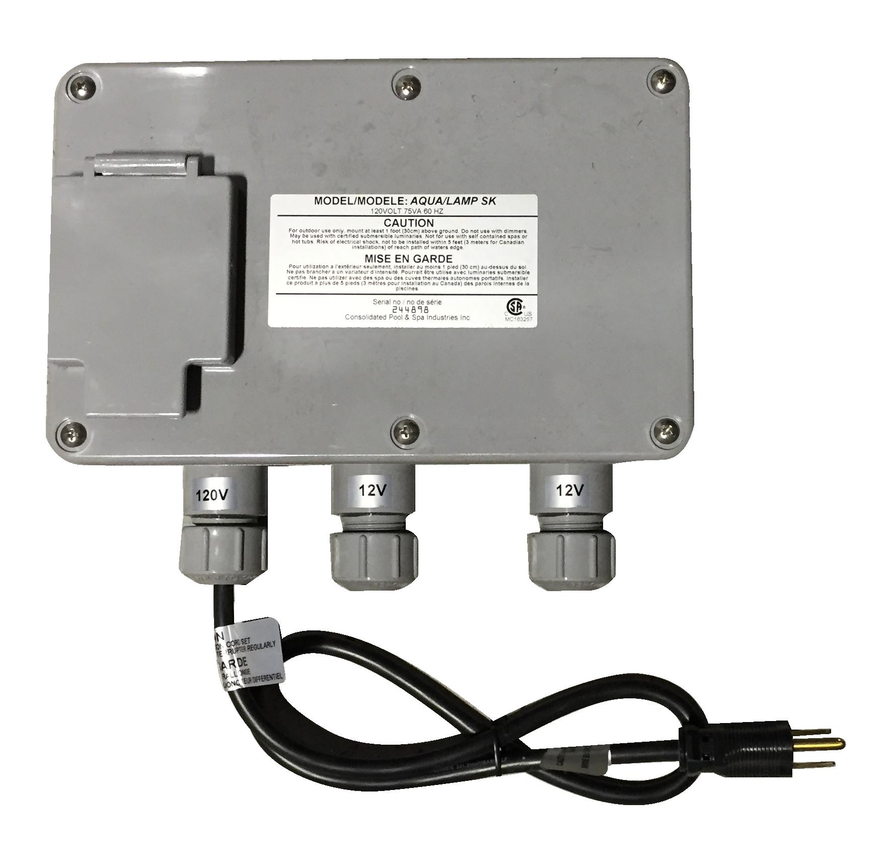Aqualamp Or Rainbow Rays Dual Transformer Box Pool Supplies Canada Wiring A Hot Tub Complete