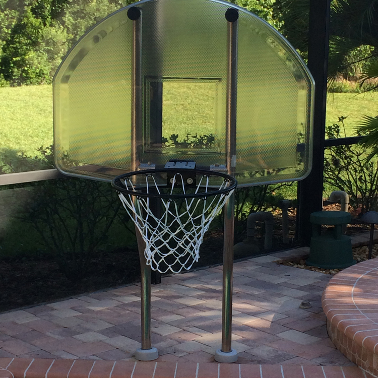 Inter-Fab Stainless Steel Basketball Complete In Deck Game System with Plastic Anchors