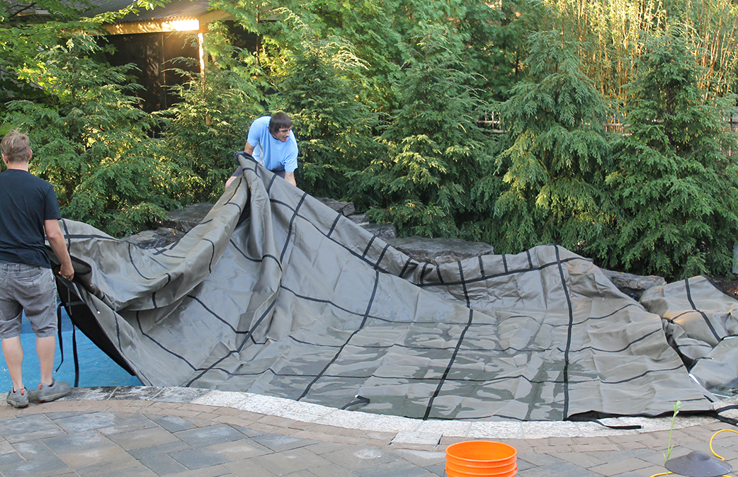 Winter Pool Safety Cover Installation Step One