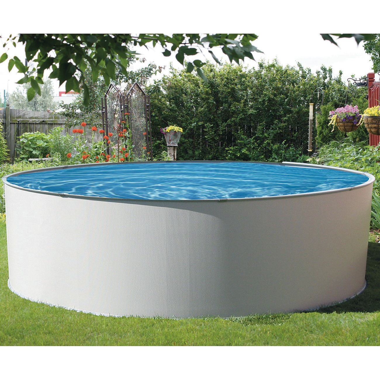 Simplicity 18 pied ronde piscine hors terre pool for Chauffe eau piscine hors terre prix