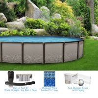 Element 18 x 33 ft Oval Above Ground Pool Custom Package