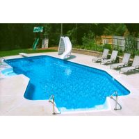 16 x 32 ft Lazy-L 2 ft Radius Inground Pool Complete Package
