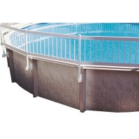 White Above Ground Pool Fence Add-On Kit (Kit B - 3 Sections)