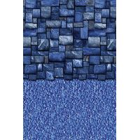 Blue Slate Stream Stone 18 ft Round Liner