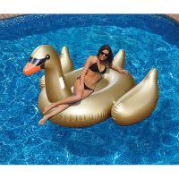 Giant Golden Goose Ride-On Pool Float