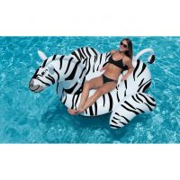 Giant Zebra Ride-On Pool Float