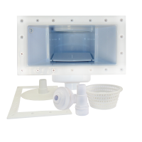 12 inch Wide Mouth Above Ground Skimmer and Return Jet Kit (White)