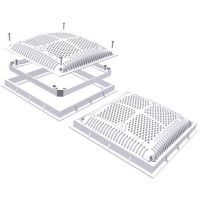 Hayward Frame and Cover -Dual Pack 12sq High Flow
