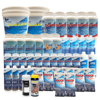 Up to a 100,000 Litre Pool Season Supply Salt Water Chemical Kit