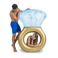 Giant Bling Ring Ride-On Pool Float