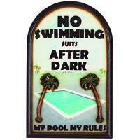 No Swimming After Dark Decorative Outdoor Sign