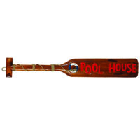 Pool House Paddle Decorative Outdoor Sign