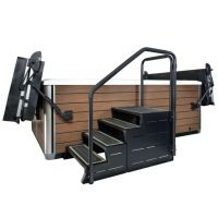 Leisure Concepts ModStep 4 with Step and Rails (Coastal Grey)