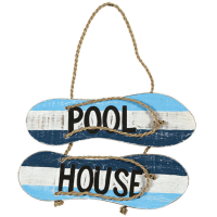 Pool House Sandals Decorative Outdoor Sign