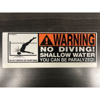 Warning - No Diving Sticker