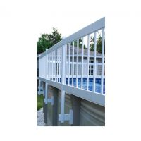 GLI White Above Ground Pool Fence Base Kit (Kit A - 8 Sections)