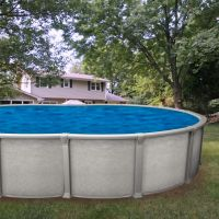 Galaxy 21 x 43 ft Oval Buttress Free Above Ground Pool Custom Package