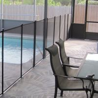 Inground 4 Ft Tall x 12 ft Long Pool Safety Fence Complete Section (Designer Black)