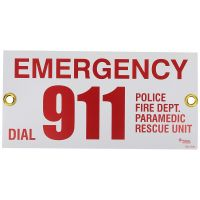 Emergency 911 Contact Sign