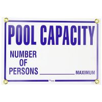 Maximum Pool Capacity Sign