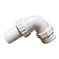 ABS 1.5 Inch Threaded/Barbed Quick Connect 90 Degree Elbow
