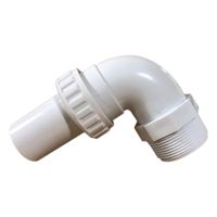 ABS 1.5 Inch Threaded/Smooth Quick Connect 90 Degree Elbow
