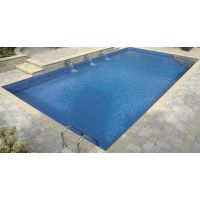 16 x 32 ft Rectangle 6 inch round corners Inground Pool Complete Package with Carnegie Arctic Liner Pattern