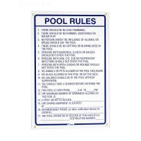 Rules of the Pool Sign