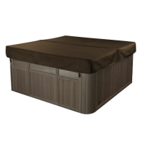 Air02 89 x 89 Inch Espresso Coloured Inflatable Hot Tub Cover