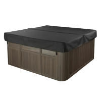 Air02 94 x 94 Inch Shadow Coloured Inflatable Hot Tub Cover