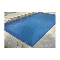 12 x 24 ft Rectangle 2 ft round corners Inground Pool Complete Package