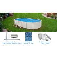 Evolution 18 x 33 ft Oval Above Ground Pool Custom Package