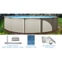 Evolution 24 ft Round Above Ground Pool Custom Package