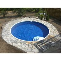 Eternity 30 ft Round Semi Inground Pool Complete Package