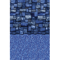 Blue Slate Stream Stone 18 x 33 ft Oval Beaded Liner 52 inch Standard Specifications