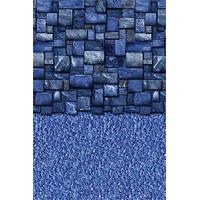 Toile Standard à Bille Blue Slate Stream Stone 12 x 24 pieds Ovale et 52 pouces de Haute