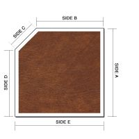 Basic Left or Right Cut Corner Square or Rectangle Hot Tub Cover