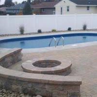 Eternity 18 x 33 ft Oval Semi Inground Pool Complete Package