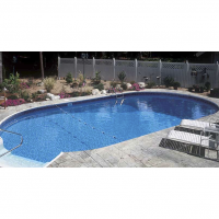 14 x 28 ft Oval Inground Pool Basic Package