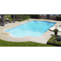 16 x 32 ft Roman with 6 Inch Radius Corners Inground Pool Complete Package
