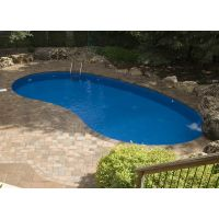 Eternity 16 x 32 ft Kidney Semi Inground Pool Complete Package