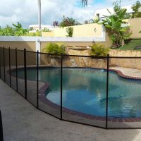 GLI Inground 4 Tall x 10 ft Pool Safety Fence -One Complete Section (Designer Black)