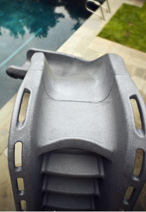 Typhoon Left Hand Turn Inground Pool Slide Pool Supplies