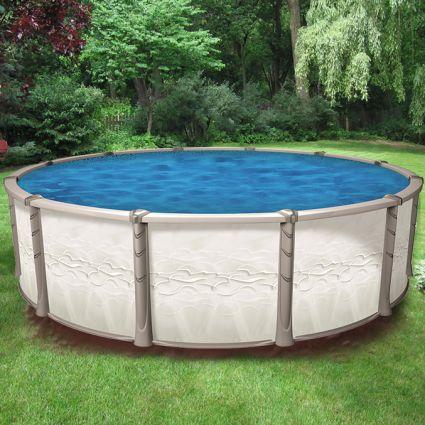 Piscine hors terre cr ation de 24 pieds ronde - Toile solaire piscine hors terre ...