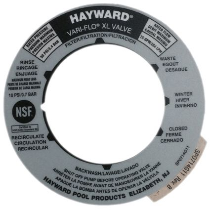 Hayward Spx0714g11 Valve Position Label Pool Supplies
