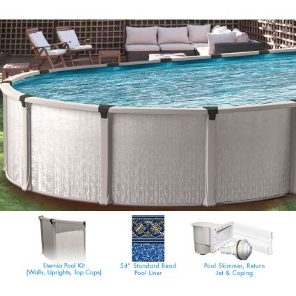 Eternia 16 X 26 Ft Oval Buttress Free Above Ground Pool