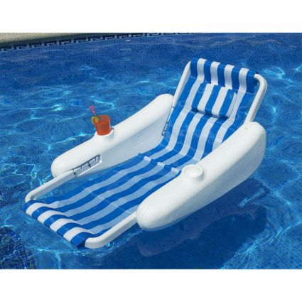 Sunchaser molded float chair pool supplies canada - Swimming pool floating lounge chairs ...
