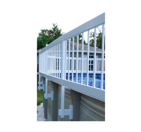 White Above Ground Pool Fence Gate Kit Pool Supplies Canada