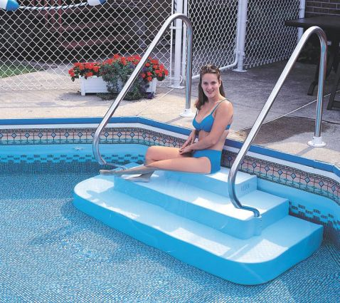 The Step Inground Drop In Two Rails Pool Supplies Canada