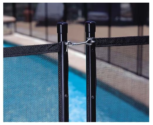 Gli inground 4 x 10 ft pool safety fence pool supplies for Cloture amovible pour piscine